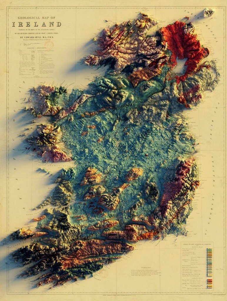 Geologic Map of Ireland - Landscape of Ireland.